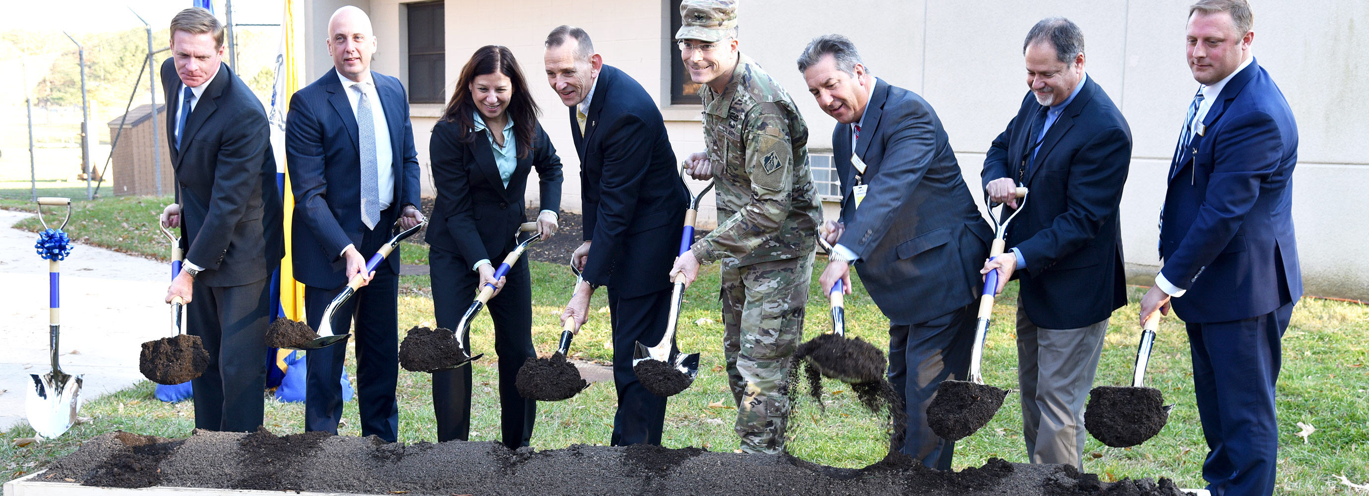 Breaking ground of the new JJRTC Canine Training Facility