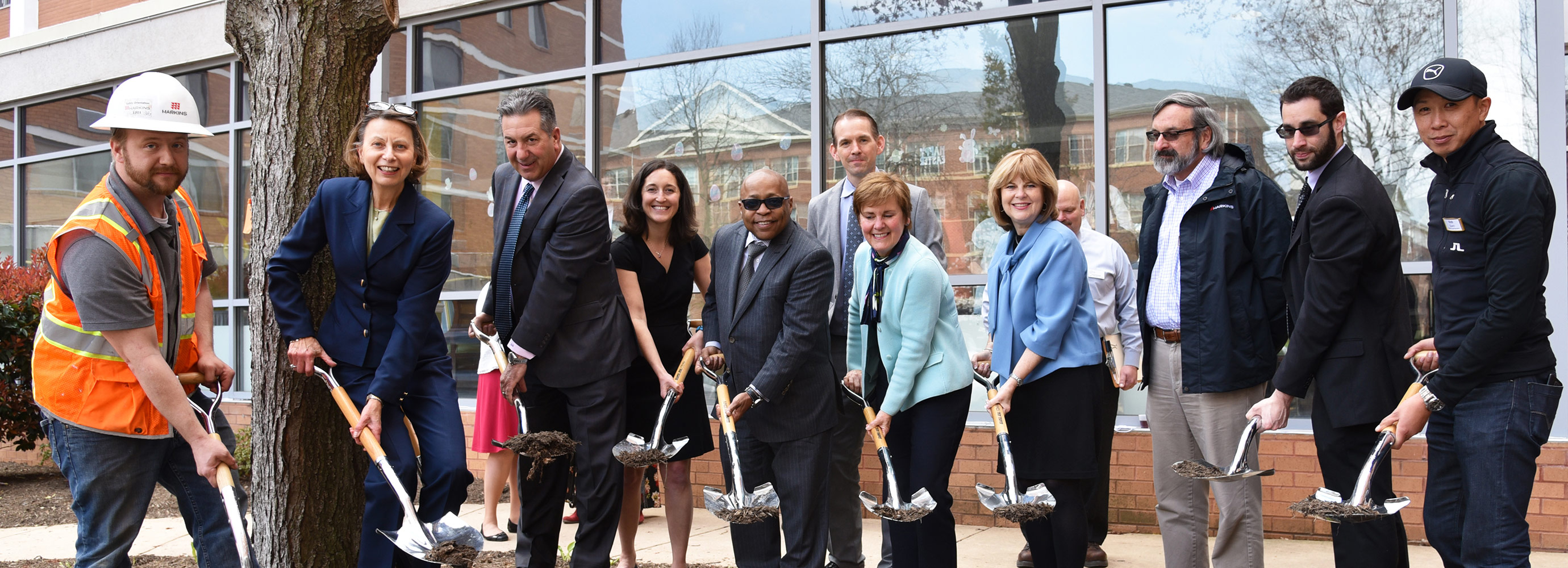 Harkins and team celebratory ground breaking at the Culpepper project