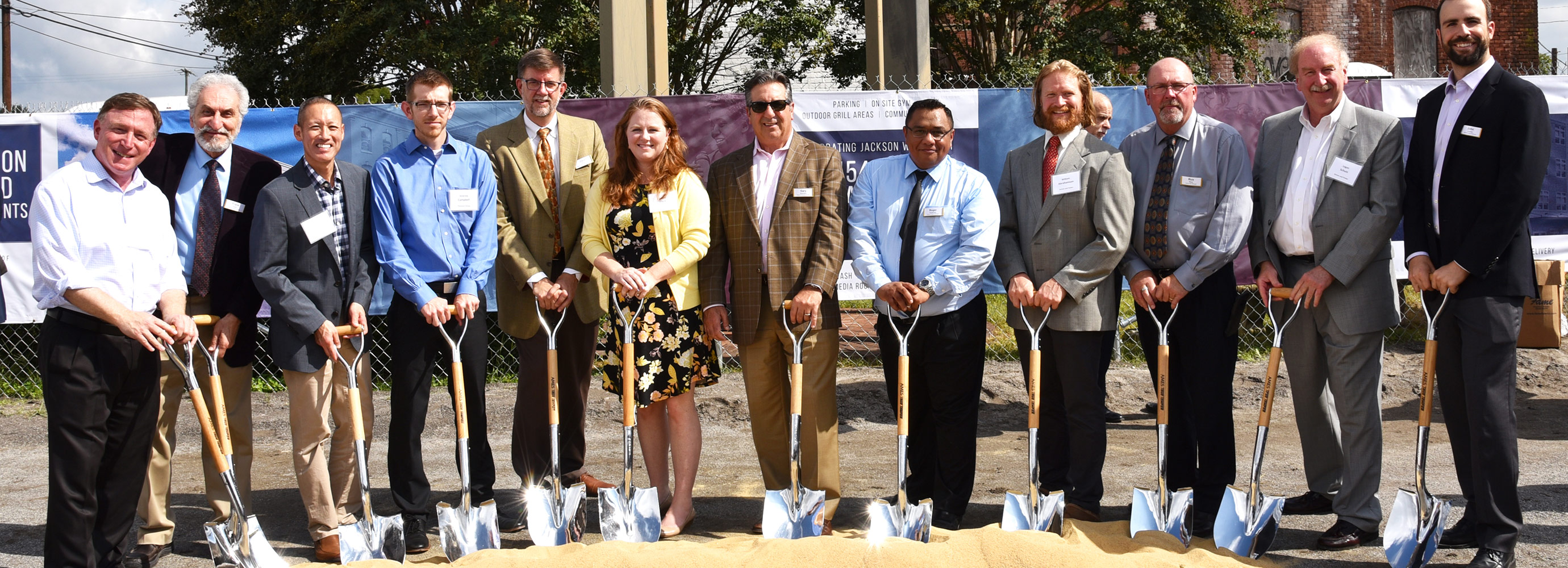 Full Harkins and team members shot at groundbreaking ceremony for Jackson Ward
