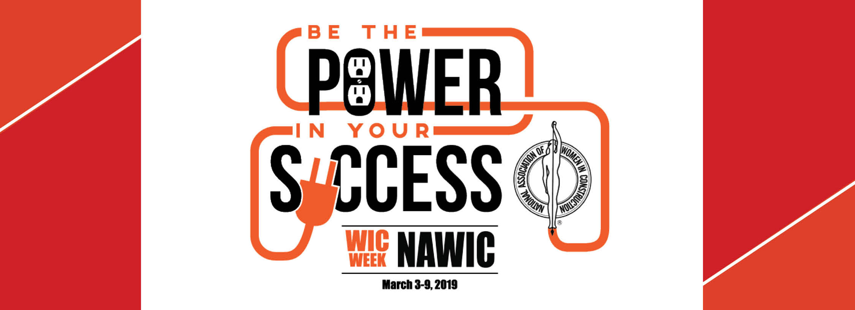 women in construction week logo power to success