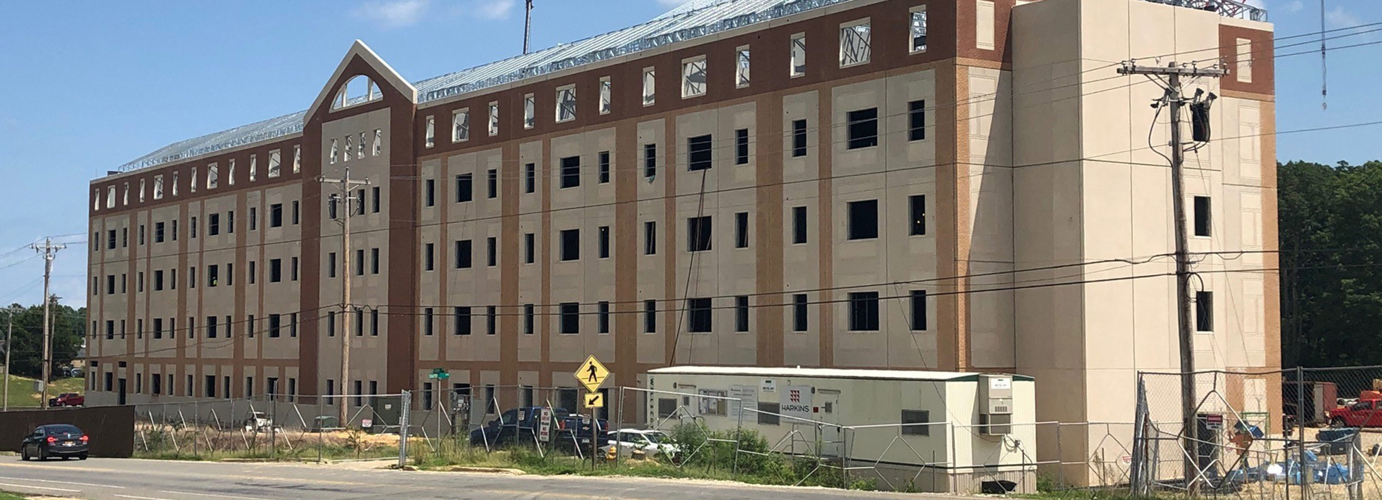 Construction Topping Out of Naval Air Force Facility