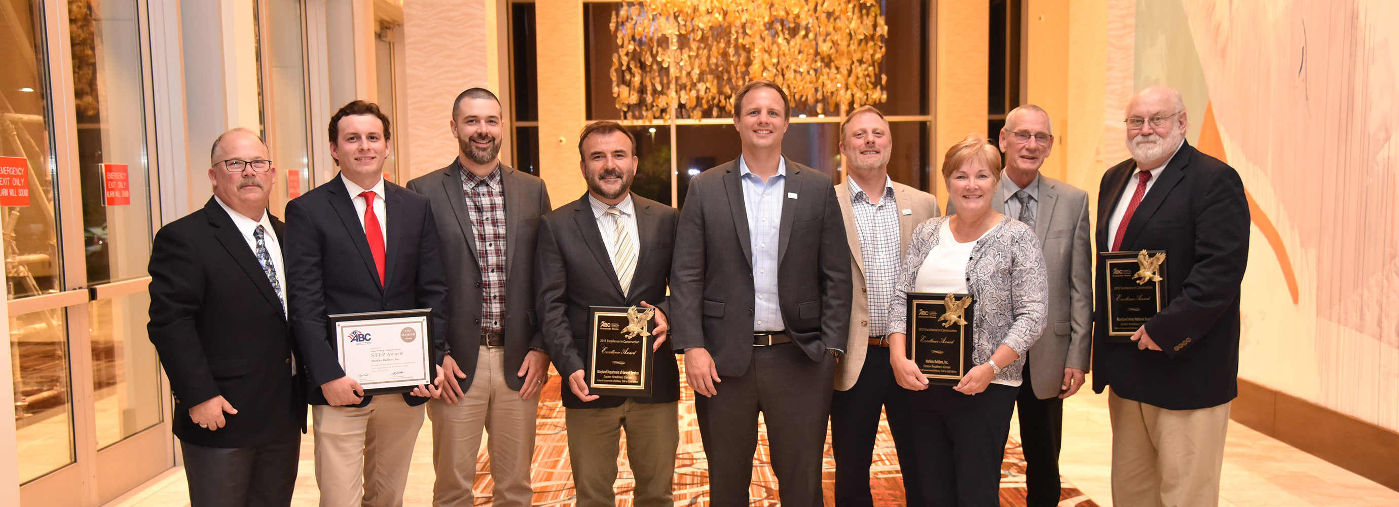 Harkins team accepts awards for Platinum STEP and construction excellence