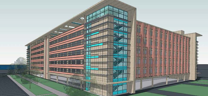 Project rendering of DOS Parking Garage