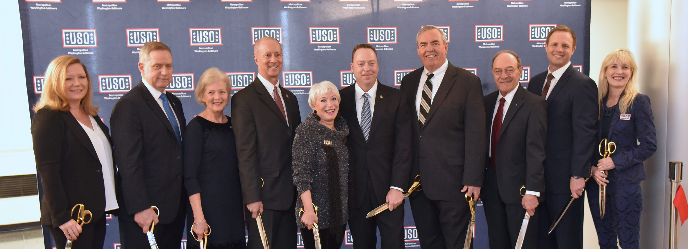 USO lounge ribbon cutting