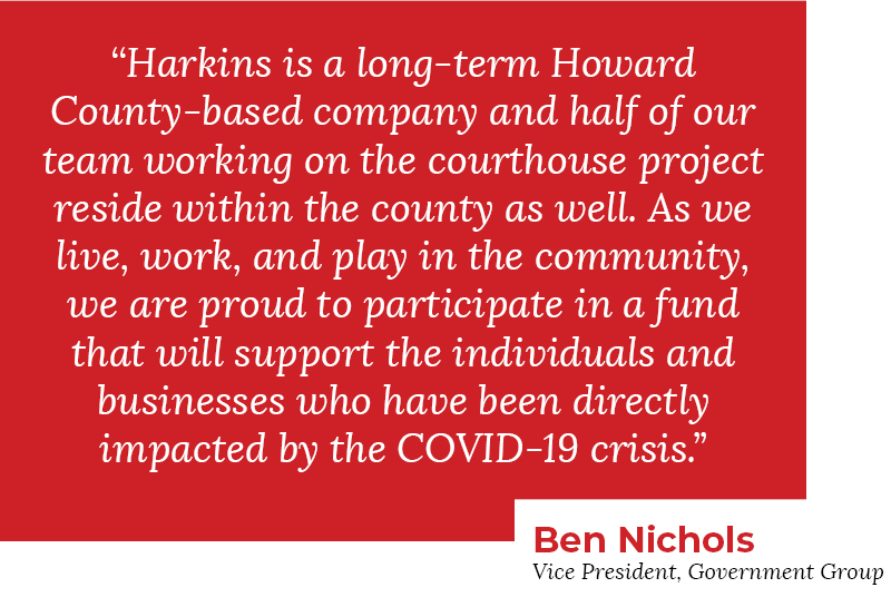 Quote block Ben Nichols speaks on Howard County COVID-19 fund