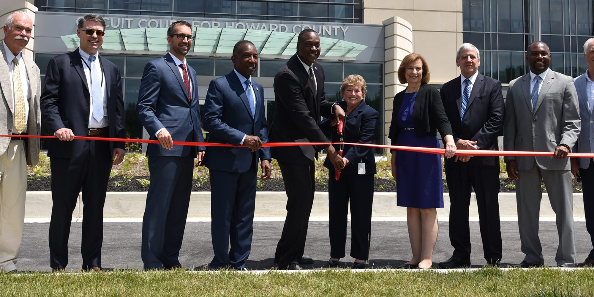 Howard County Circuit Courthouse cutting of ribbon celebrating grand opening